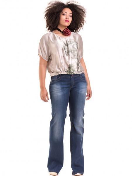 """Дамска ефирна блуза TWO""""E 13241 - светло бежова C"""