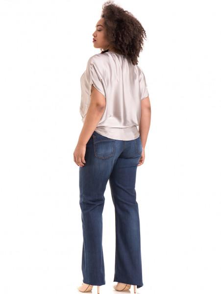 """Дамска ефирна блуза TWO""""E 13241 - светло бежова E"""