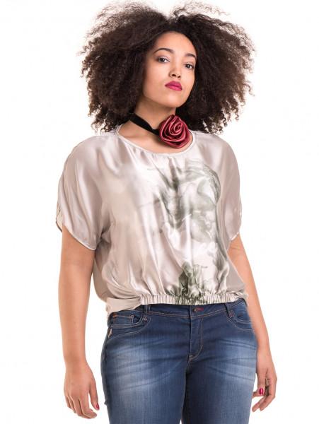 """Дамска ефирна блуза TWO""""E 13241 - светло бежова"""