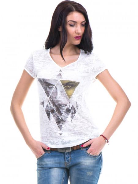 Дамска блуза с щампа XINT 036 - цвят екрю