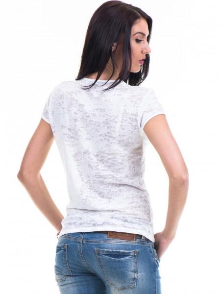 Дамска блуза с щампа XINT 036 - цвят екрю B