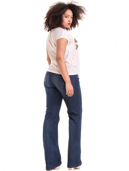 Дамска блуза с флорални мотиви XINT 057 - цвят екрю E