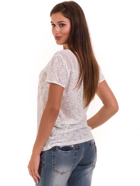 Дамска блуза свободен модел XINT 805 - цвят екрю  B