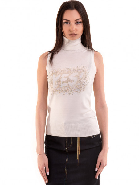 Дамска блуза JOGGY GIRLS без ръкав 2713 - цвят екрю
