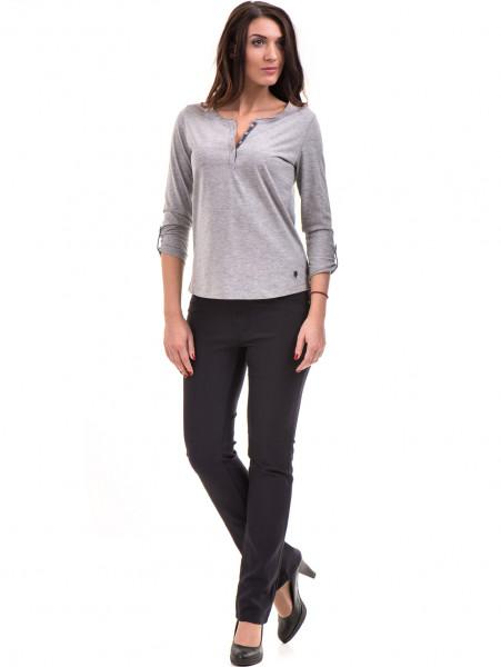 Дамска блуза JOGGY GIRLS с овално деколте 5159 - цвят сив C