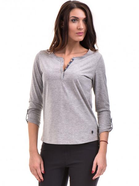 Дамска блуза JOGGY GIRLS с овално деколте 5159 - цвят сив