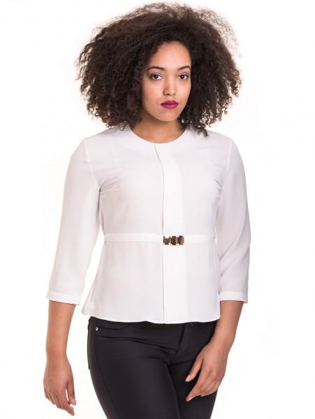 Елегантна дамска блуза JOVENNA 22898 - бяла