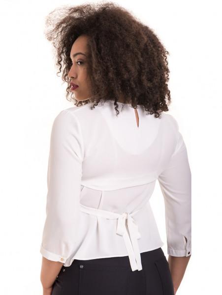 Елегантна дамска блуза JOVENNA 22898 - бяла B