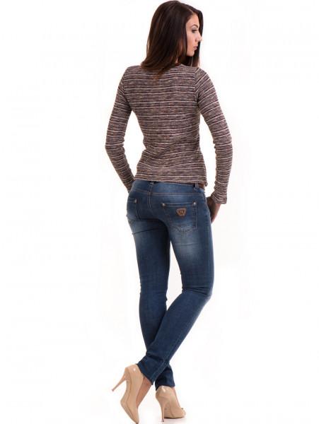 Дамска блуза MISS POEM втален модел 15478 - цвят бордо E