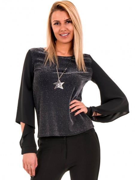 Дамска елегантна блуза PRETTY LOLITA 12254 - черна