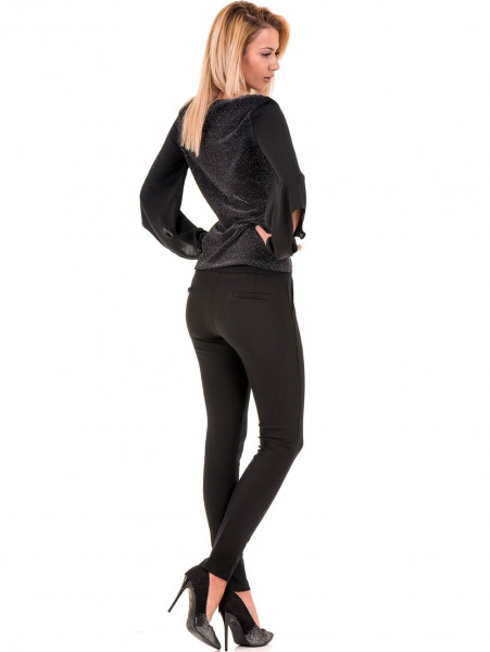 Дамска елегантна блуза PRETTY LOLITA 12254 - черна E