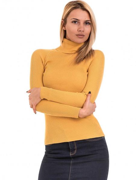 Дамска поло блуза STAMINA 18673 - цвят горчица
