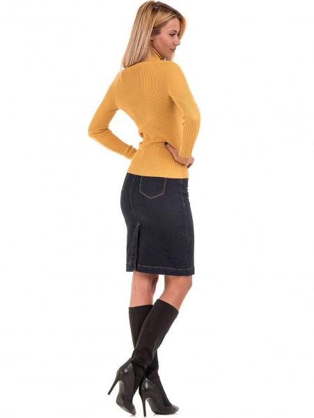 Дамска поло блуза STAMINA 18673 - цвят горчица E