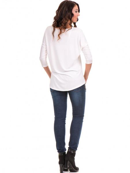 Дамска блуза  свободен модел STAMINA 211 - цвят екрю E