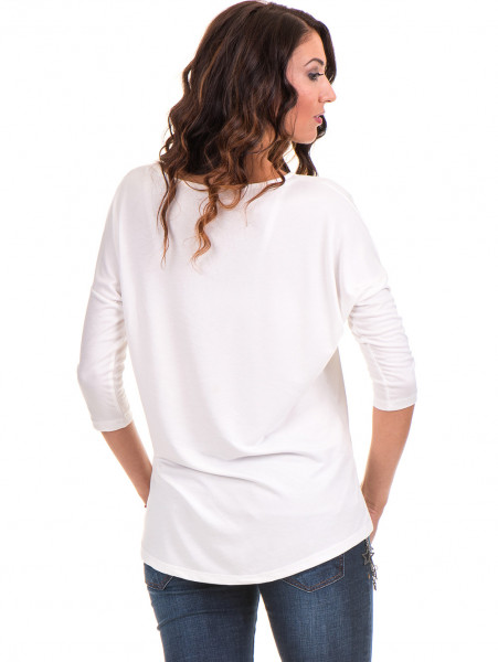 Дамска блуза  свободен модел STAMINA 211 - цвят екрю B
