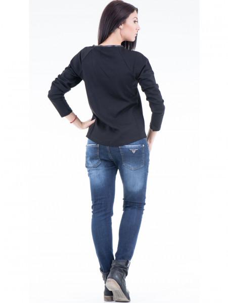 Дамска блуза  с щампа VIGOSS 40574 - черна E