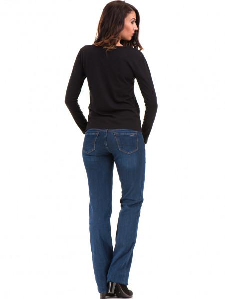 Дамска блуза с V-образно деколте XINT 091 - черна E