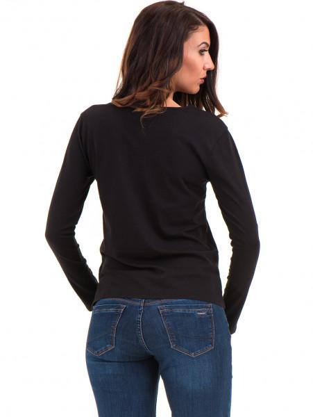 Дамска блуза с V-образно деколте XINT 091 - черна B
