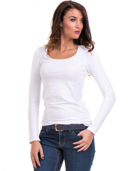 Дамска вталена блуза XINT 093- бяла