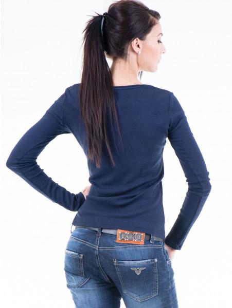 Дамска блуза с овално деколте XINT853 - цвят тъмно син B
