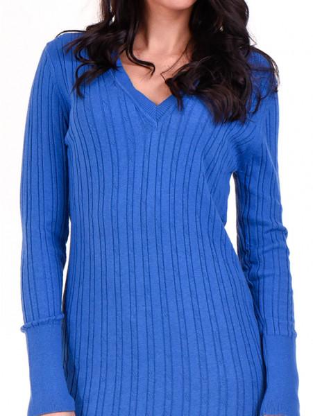 Туника от фино плетиво STAMINA 002 - синя D