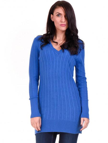 Туника от фино плетиво STAMINA 002 - синя