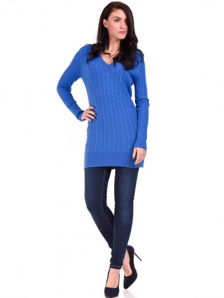 Туника от фино плетиво STAMINA 002 - синя C