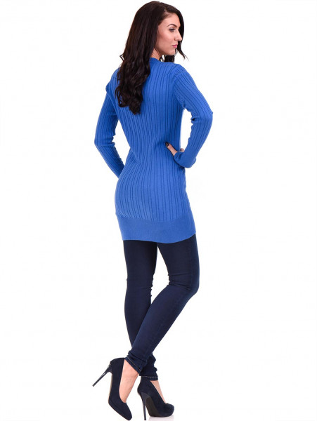 Туника от фино плетиво STAMINA 002 - синя E