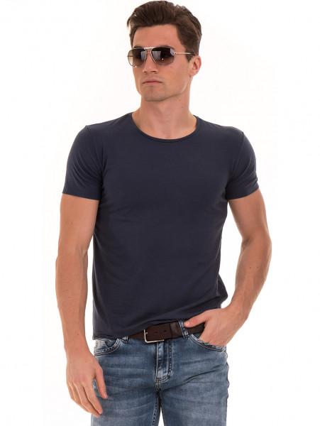 Мъжка вталена тениска XINT 856 - тъмно синя
