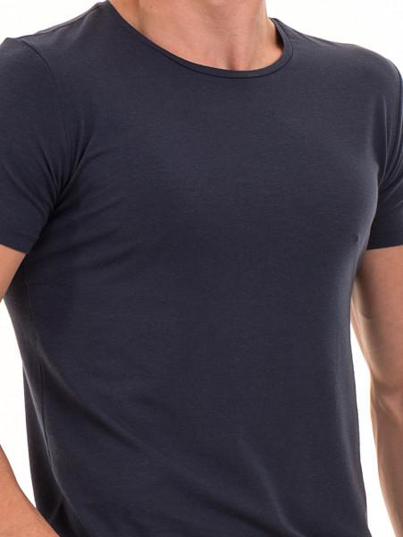 Мъжка вталена тениска XINT 856 - тъмно синя D