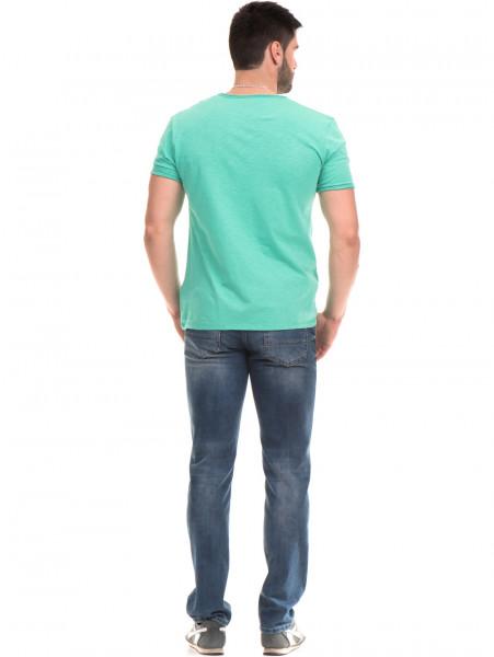 Мъжка памучна тениска с щампа MCL 23837 - зелена E