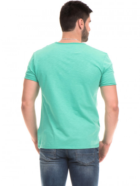 Мъжка памучна тениска с щампа MCL 23837 - зелена B
