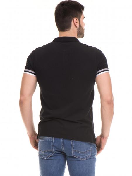 Мъжка блуза с къс ръкав MCL 24532 - черна B