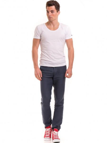 Мъжка вталена тениска VIGOSS 60028 - бяла C