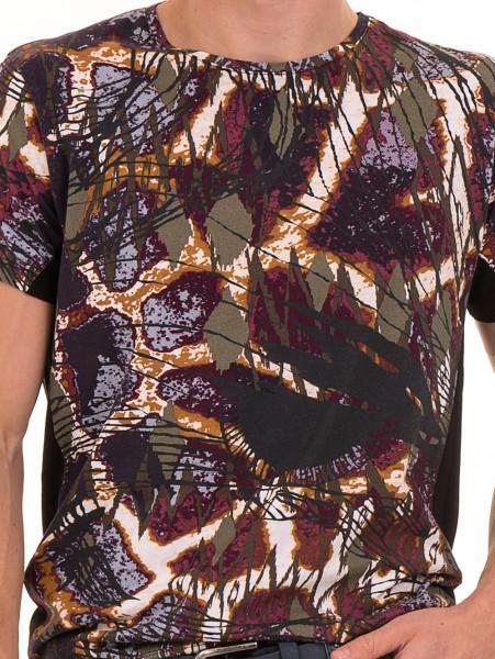 Мъжка блуза с абстрактна шарка XINT 755 - черна D