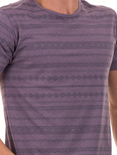Мъжка блуза с фигурални мотиви XINT 940 - лилава D