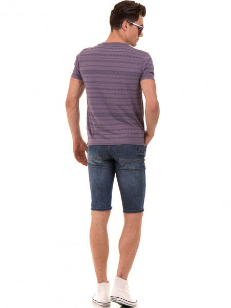 Мъжка блуза с фигурални мотиви XINT 940 - лилава E