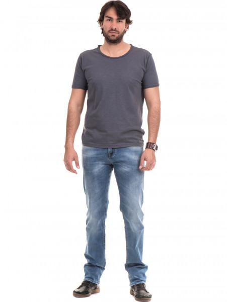 Мъжка памучна тениска с къс ръкав XINT 975 - сива C