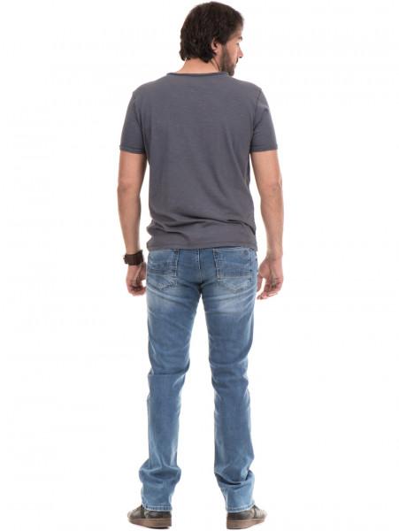 Мъжка памучна тениска с къс ръкав XINT 975 - сива E
