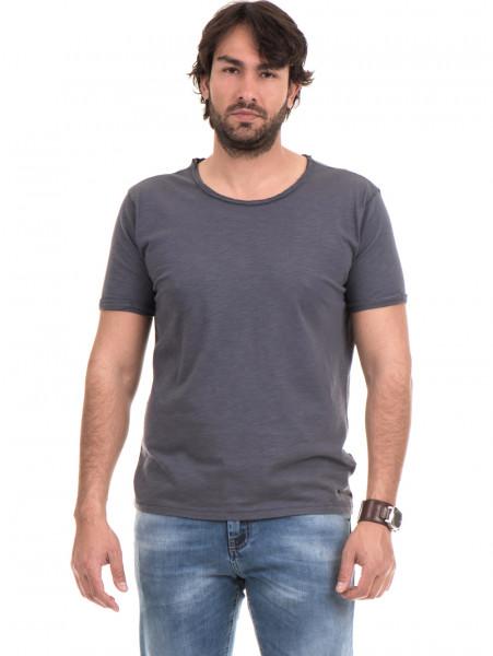 Мъжка памучна тениска с къс ръкав XINT 975 - сива