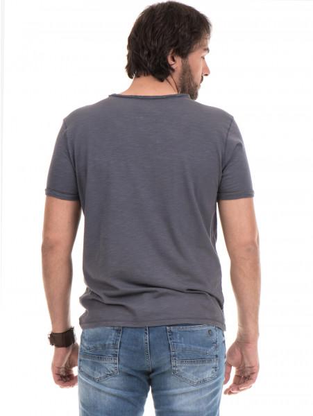 Мъжка памучна тениска с къс ръкав XINT 975 - сива B