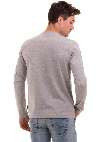 Мъжка спортна блуза ICEBOYS 1033 - светло сива B