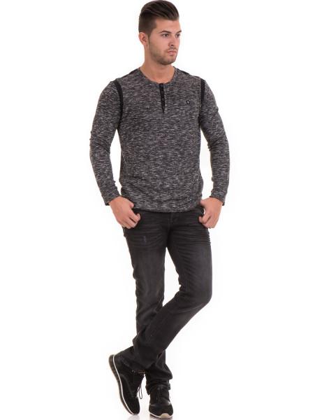 Мъжка блуза с копчета  MCL 29123 - черна C