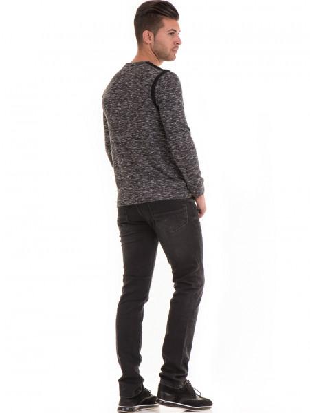 Мъжка блуза с копчета  MCL 29123 - черна E