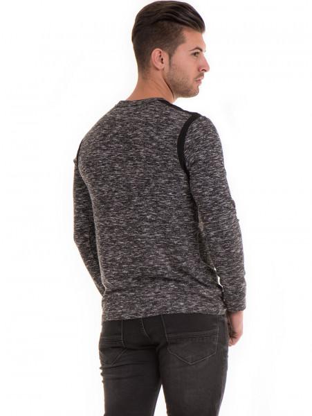 Мъжка блуза с копчета  MCL 29123 - черна B