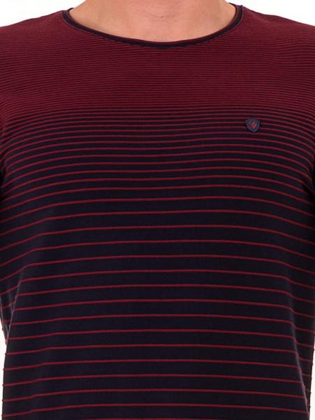 Мъжка блуза на райе MCL 29139 - цвят бордо D