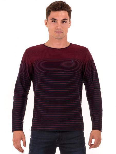 Мъжка блуза на райе MCL 29139 - цвят бордо