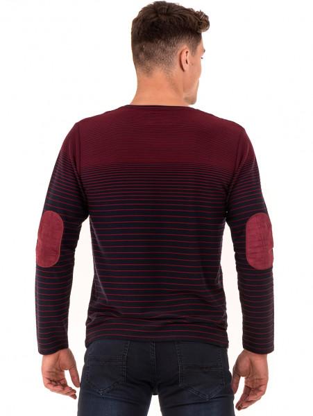 Мъжка блуза на райе MCL 29139 - цвят бордо B