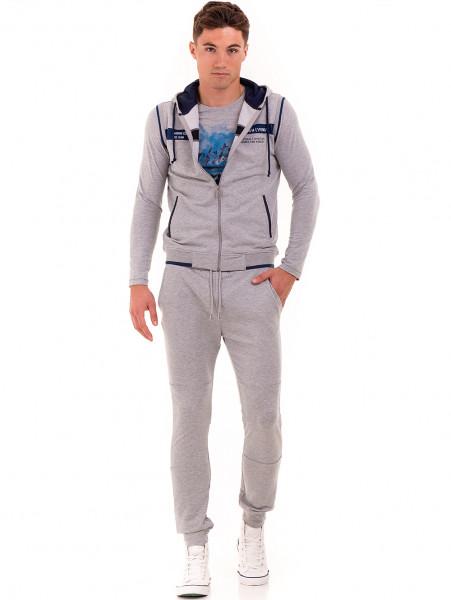 Мъжка спортна блуза с щампа MCL 29161 - сива C1