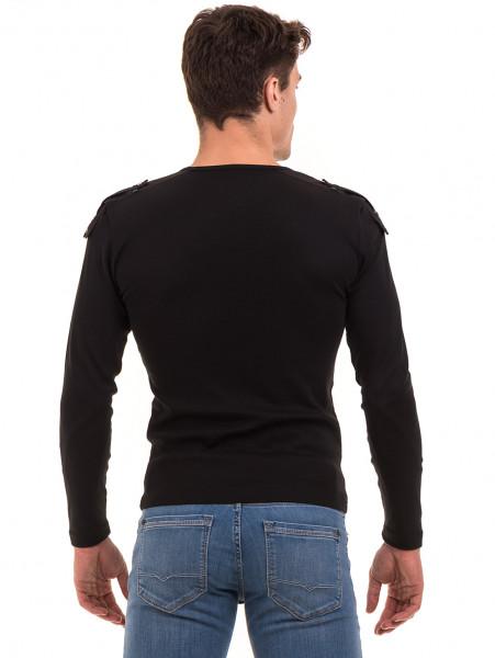 Мъжка спортна блуза с щампа VIGOSS 683 - черна B